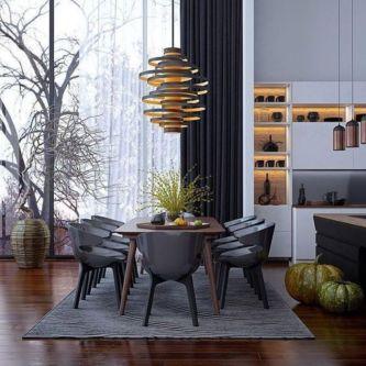 Modern scandinavian dining room chairs design ideas 16
