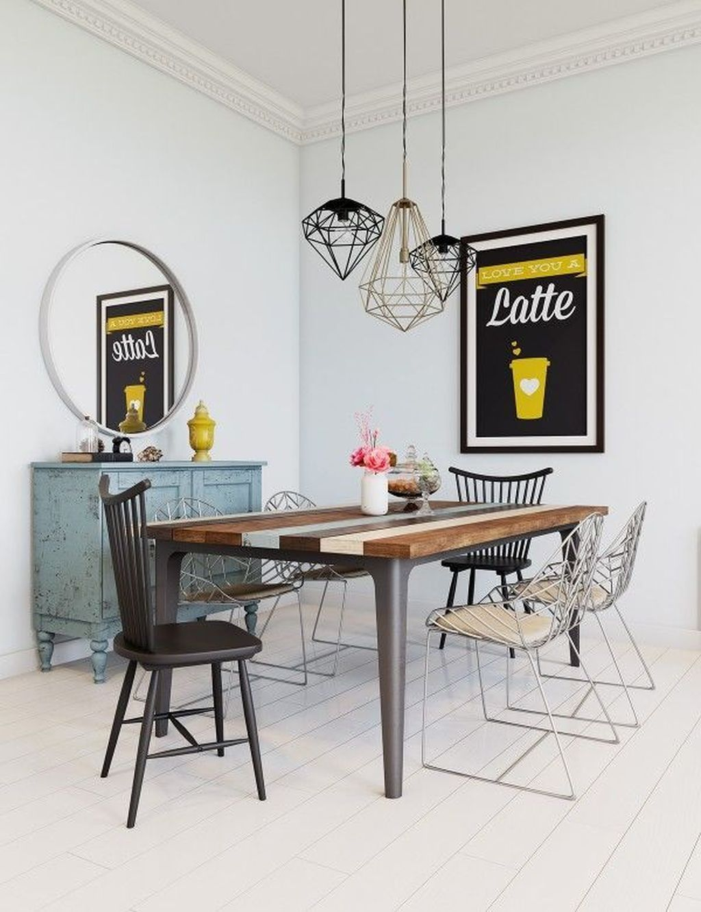 Modern scandinavian dining room chairs design ideas 43