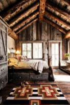 Pretty bedroom designs ideas with exposed wooden beams 18
