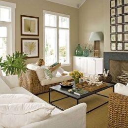Stylish coastal living room decoration ideas 01