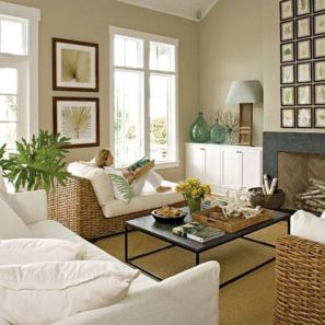Stylish coastal living room decoration ideas 01