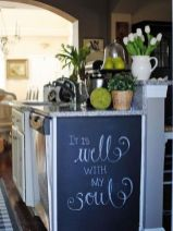 Unique practical chalkboard decor ideas for your kitchen 31
