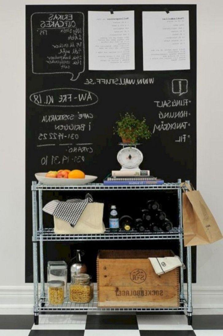 Unique practical chalkboard decor ideas for your kitchen 45