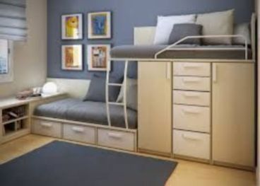 Unordinary space saving design ideas for small kids rooms 16