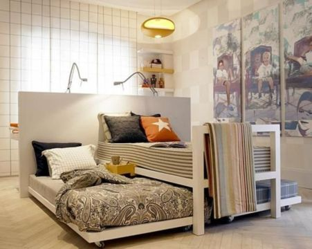 Unordinary space saving design ideas for small kids rooms 29