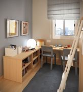 Unordinary space saving design ideas for small kids rooms 38
