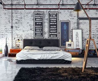 Modern faux brick wall art design decorating ideas for your bedroom 16