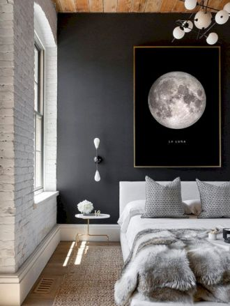 Modern faux brick wall art design decorating ideas for your bedroom 27
