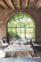 Modern faux brick wall art design decorating ideas for your bedroom 38