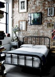 Modern faux brick wall art design decorating ideas for your bedroom 39