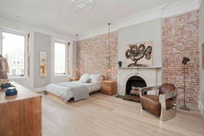 Modern faux brick wall art design decorating ideas for your bedroom 45