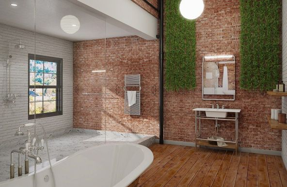 Affordable bathroom design ideas for apartment 03