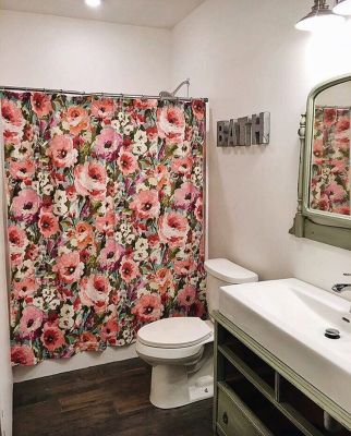 Amazing bathroom curtain ideas for 2019 43