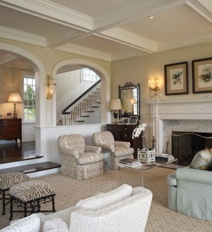 Awesome big living room design ideas with stairs 01