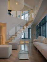 Awesome big living room design ideas with stairs 06
