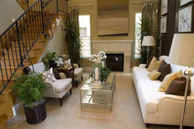Awesome big living room design ideas with stairs 13
