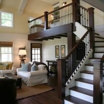 Awesome big living room design ideas with stairs 20