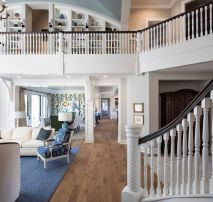 Awesome big living room design ideas with stairs 22