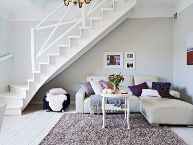 Awesome big living room design ideas with stairs 25