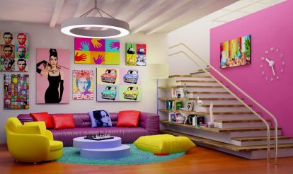 Awesome big living room design ideas with stairs 39