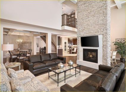 Awesome big living room design ideas with stairs 40