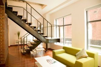 Awesome big living room design ideas with stairs 43