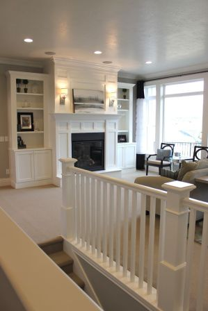 Awesome big living room design ideas with stairs 44