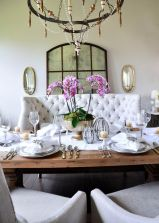 Comfy formal table centerpieces decorating ideas for dining room 14