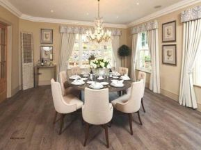 Comfy formal table centerpieces decorating ideas for dining room 16