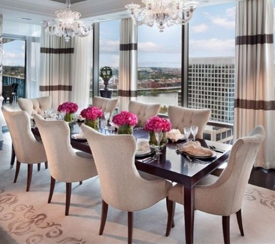 Comfy formal table centerpieces decorating ideas for dining room 33