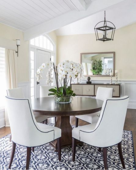 Comfy formal table centerpieces decorating ideas for dining room 35