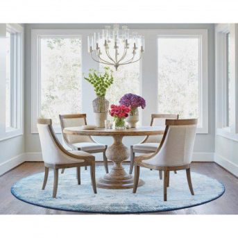 Cute dining room rug decorating ideas 06