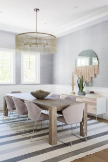 Cute dining room rug decorating ideas 16