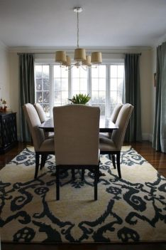 Cute dining room rug decorating ideas 22