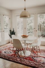 Cute dining room rug decorating ideas 26