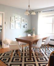 Cute dining room rug decorating ideas 34