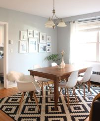Cute dining room rug decorating ideas 34