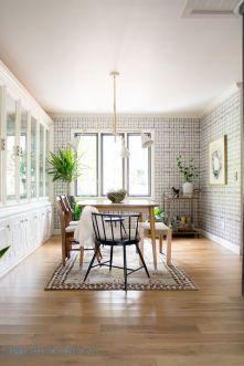 Cute dining room rug decorating ideas 38