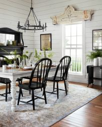 Cute dining room rug decorating ideas 46