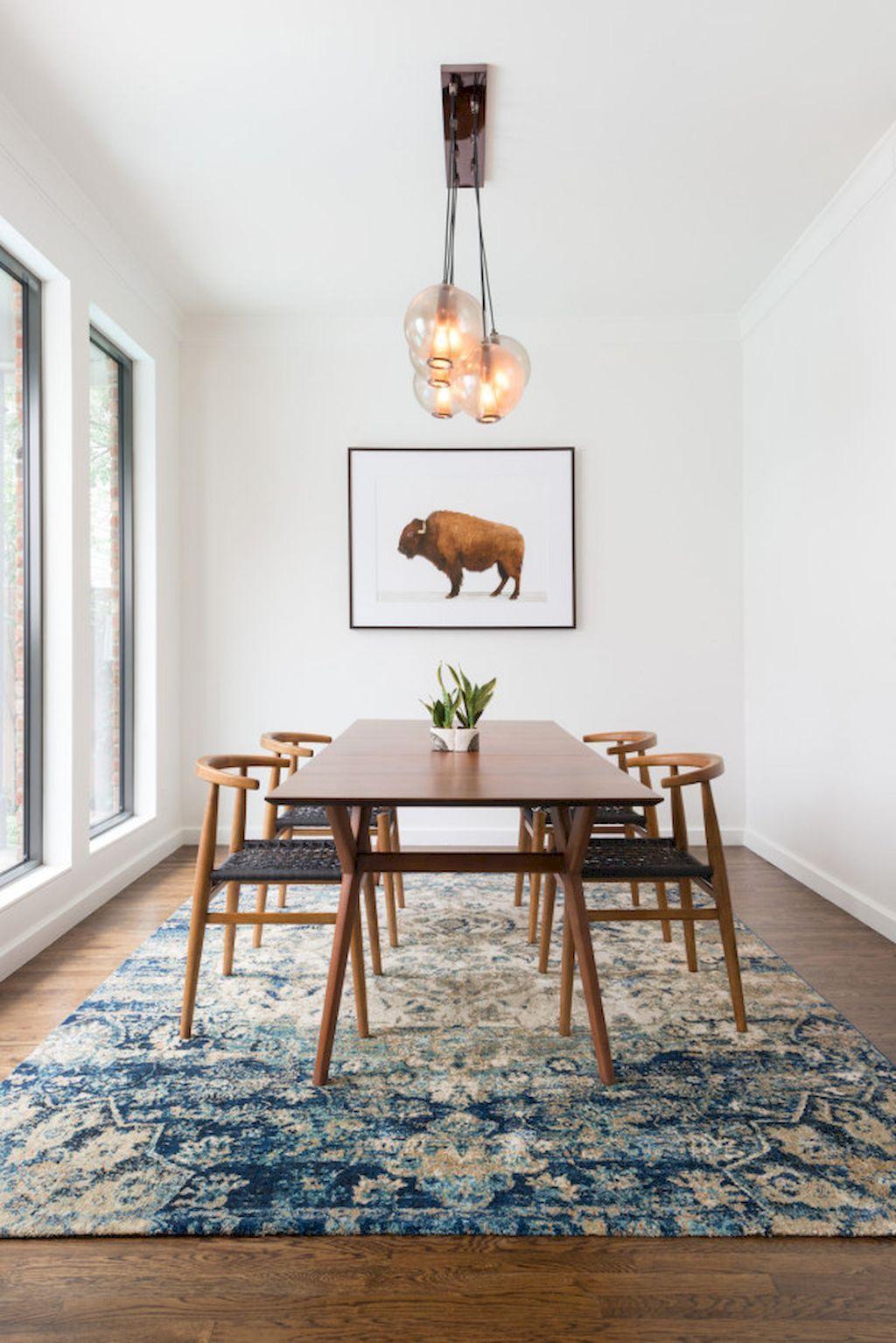 Cute dining room rug decorating ideas 50