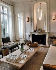 Cute french style living room for new home style 05
