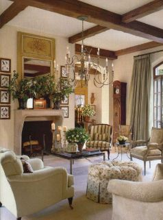Cute french style living room for new home style 07