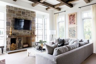 Cute french style living room for new home style 28