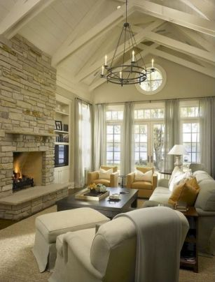 Cute french style living room for new home style 36