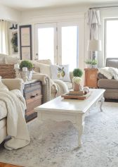 Cute french style living room for new home style 43