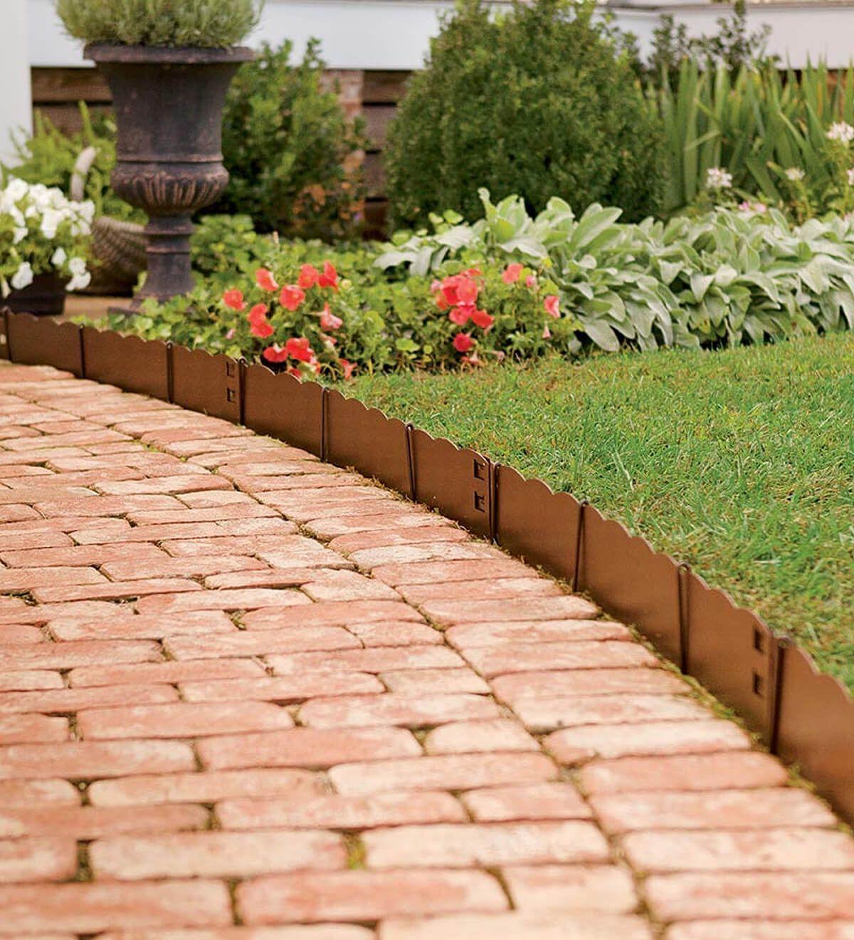 Elegant backyard landscaping ideas using bricks 06