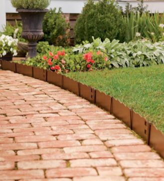 Elegant backyard landscaping ideas using bricks 06