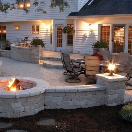 Elegant backyard landscaping ideas using bricks 15