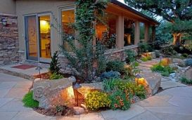 Elegant backyard landscaping ideas using bricks 17