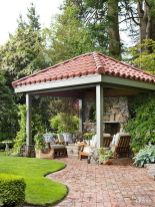Elegant backyard landscaping ideas using bricks 41